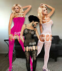 Sexy Fish Net gauze see through Body stocking Bodysuit Lingerie Babydoll dress