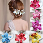 Fashion Girl Women Flower Hair Clip Barrette Bridal Wedding Party Accessories