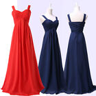 New Long RED+BLUE Formal Evening Ball Gown Party Prom Bridesmaid Dress PLUS SIZE