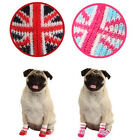 Any Size & Color - Puppia - Union Jack - Dog Socks - Pink or Red - Set of 4