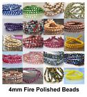 faceted glass beads - 4mm Fire Polished Czech Glass Beads 50 Faceted Choose Color New Arrivals