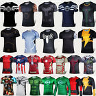 Marvel Mens Compression Base Layer Sports Wear Running T-Shirts Cycling Costume