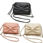 New Women Bag Faux Leather Shoulder Handbag Bowknot Satchel Body cute Tote gift