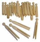 TRADITIONAL NATURAL WOODEN CRAFT DOLLY PEGS 11cm MODELLING WASHING LAUNDRY 7064