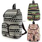Lady Women Gril Chic Leisure Canvas Backpack School Bag Owl Colorful NWT