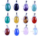 Fashion Natural Rhinestone Gemstone DIY Jewelry Pendants Beads Necklace Beads