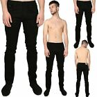 Mens Designer Branded Regular Tapered Leg Denim Basic Skinny Fit Jeans Pants