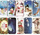 New  Cute Christmas Painted Phone Hard Skin Case Cover For  iPhone4 4S/5C/6Plus