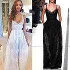 Sexy New Women's Lace Evening Party Ball Prom Gown Formal Wedding Cocktail Dress