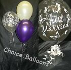 Wedding Balloons - Just Married Butterflies - 10 Table Decorations Many Colours