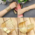 New Gold Multilayer Wire Hollow Out Cuff Bangle Bracelet Women's Jewelry Fashion