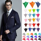 Plain Colour Italian square Satin Wedding Party pocket Hanky Handkerchief Gift