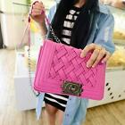 Korean Fashion PU leather Knitting Cross Body Chain Shoulder Messenger Bag - CB