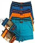 6 Pairs Men's Stripe Boxer Shorts, Cotton Rich Designer Underwear Boxer S M L XL