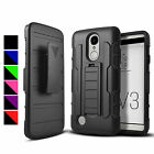 FOR LG PHONE MODELS RUGGED ADVANCED ARMORED CASE COVER+CLIP HOLSTER+STYLUS