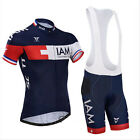 Cycling Short Sleeve Dark Blue Clothing Bicycle Sport Jersey Bib Shorts Set TB