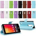 Flip PU Leather Wallet Holder Card Case Stand Cover For LG Leon 4G LTE H340N C50