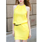 Fashion Women Sexy Chiffon Sleeveless Casual Party Evening Mini Straight Dress