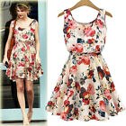 2015 New style party Vest Flower prints Women Dress Spring Summer Clothing