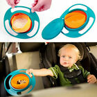 NEW Baby Toddler Non-Spill Gyro Bowl 360 Rotating Spill-proof Feeding Bowl