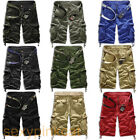 NWT Men's Casual Army Cargo Combat Camo Camouflage Overall Shorts Sports Pants