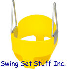 SWING SEAT FULL BUCKET W/CHAINS & HOOKS SWING SET TOY PLAYGROUND BABY PARK 0050