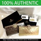 [OMNIA]Crystal Ladies Heart Emboss Genuine Leather Purse Long Wallet Trifold