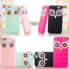 3D Cartoon Owl Soft Silicone Sikn Back Case Cover For iPhone 5s/5/6/6s 7 plus