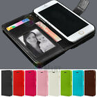 For Apple iPhone SE 5 5S Leather Flip Cover Credit Card Wallet Case Skin