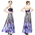 Ever Pretty Strapless Waist Printed Evening Cocktail Party Summer Dresses 09199