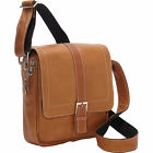 David King Deluxe Medium Leather Messenger Bag With Buckle