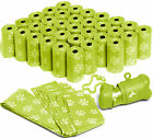 OxGord Dog Poop Bags Biodegradable for 700 Green Waste Scoops w Leash Dispenser
