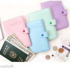 365 Traveler Passport Holder Cute Case Cover Ticket Card ID Wallet Travel Pouch