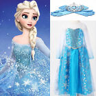 PRINCESS ELSA STYLE COSTUME FANCY DRESS PARTY PRICE FROZEN FOR NOW