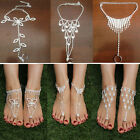 1pc Bridal Crystal Beach Barefoot Sandals Foot Toe Ring Ankle Bracelet Jewelry