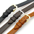 Ladies Flat Calf Leather Watch Band Choice of 3 Colours 10mm 12mm 14mm