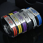 Mens Fashion Stainless Steel Bracelets Titanium Bangle Silicone Jewelry for Men