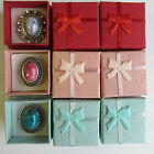 Wholesale  12 - 24 -  48 Jewellery Gift Boxes Rings Brooch Display Red Pink