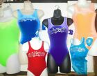 Gymnastic Leotard Velvet Tank Rhinestone 6 Colors Choices Ladies/Child foil trim