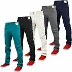 NEW MENS STRETCH SLIM FIT CHINO JEANS STRAIGHT LEG CHINO TROUSERS PANTS