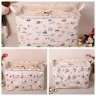 Cartoon Pattern Zakka Stackable Laundry Baskets Storage Boxes Linen SNFH049