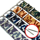 Tough Nylon Military Thread-Thru Camouflage Watch Band - Choice of Colour & Size