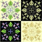 Anemone Quilt #5, Design 1-in 4 sizes-Anemone Quilt Designs & Embroidery Singles