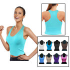 Womens Sexy Padded Push Up Vest Crop Top Support Sports Bra Non Wired Slim Cup