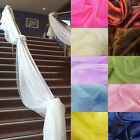 5M/10M Top Table Swags Sheer Organza Fabric DIY Wedding Party Stair Decoration