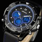 INFANTRY Aviator Mens Quartz Wrist Watch Digital Analog Chronograph Military USA
