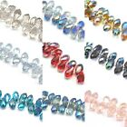 48pcs  14mm Teardrop Briolette Top-drilled Faceted Cut Glass Crystal Beads