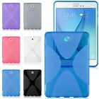 "Gel Rubber TPU Silicone Case X-line Cover For Samsung Galaxy Tab S2 8.0"" / 9.7"""