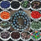 Hot 4-12mm Natural Smooth Gemstone Round Spacer Loose Beads Assorted Stones Gems