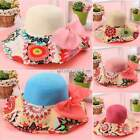 Women Folding Floppy Bohemia Sunhat Straw Summer Beach Hat Wide Brim Cap Elegant